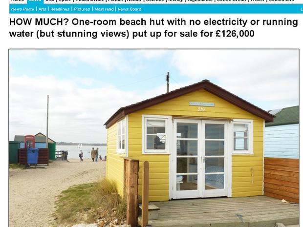 Cabana de praia Dorset (Foto: Reprodução internet)