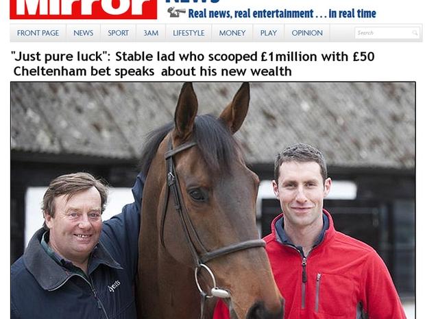 Tratador de cavalos Conor Murphy fala sobre a aposta milionária: