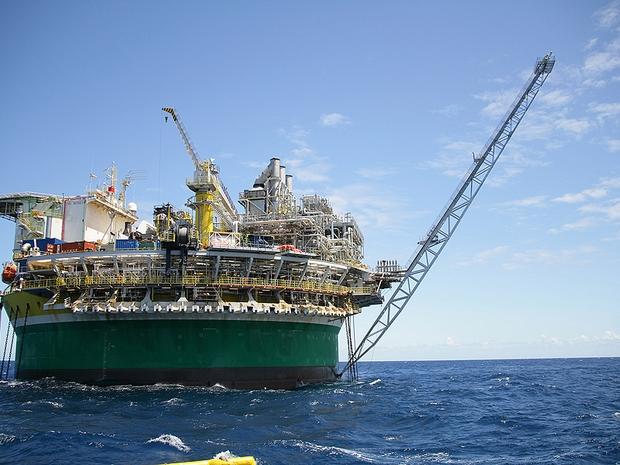Plataforma de petróleo da Petrobras na Bacia de Santos (Foto: Divulgação)