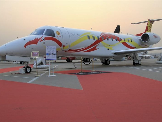 A Embraer pretende começar a montar o Legacy 650 em Harbin, na China (Foto: EFE)