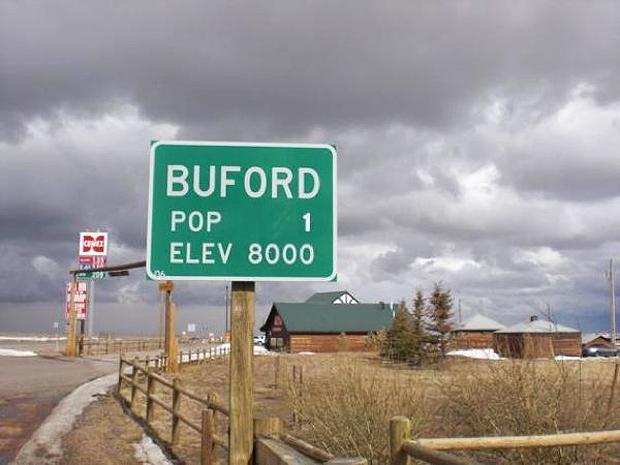 A cidade americana de Buford, no estado do Wymoning, acaba de ser vendida em leilão por US$ 900 mil (Foto: AFP Photo)