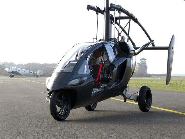 Carro voador PAL-V fabricado por uma empresa holandesa  (Foto: EFE)