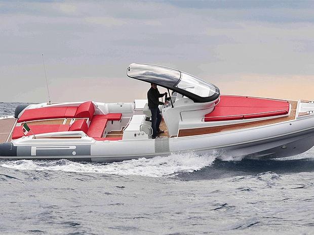 Barco inflável italiano Pirelli 1100, da Ferretti (Foto: Divulgação)