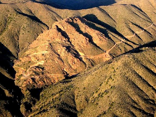 Propriedade em North Scottsdale, no Arizona: mina de ouro e cobras para interessados (Foto: Reprodução/Daily Mail)