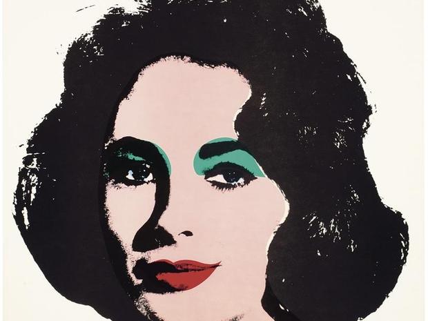 Reprodução de litografia de Andy Warhol dedicada à atriz Elizabeth Taylor (Foto: EFE)