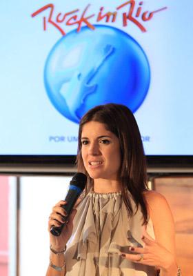 Roberta Medina, em novembro de 2010, no anúncio do início da venda de ingressos para o Rock in Rio  (Foto: Divulgação)
