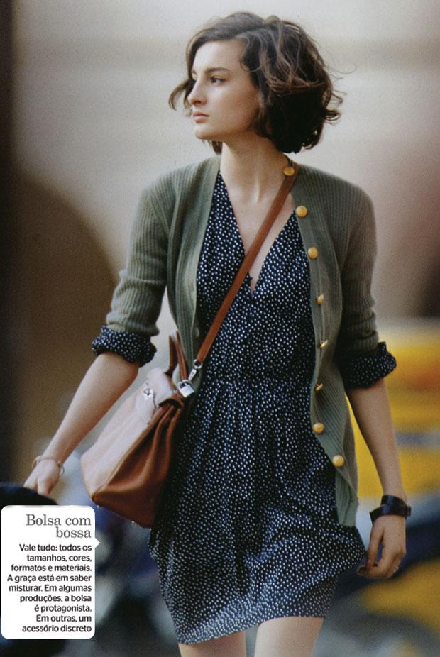 HERANÇA NAS PASSARELAS Nine d'Urso em foto do livro A parisiense. A modelo de 18 anos é a filha mais velha de Inès de la Fressange (Foto: divulgação)