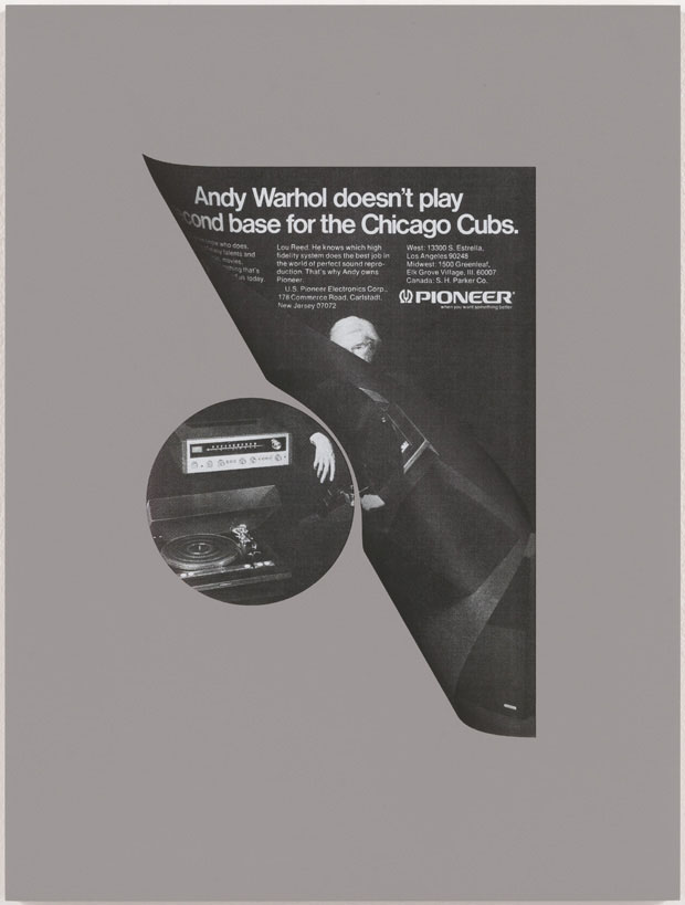Andy Warhol Doesn't Play Second Base for the Chicago Cubs, 2010, de Kelley Walker (Foto: Kelley Walker)
