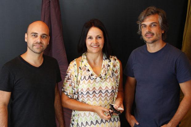 Da esq. para a dir.: Leonardo Lattavo, Rejane Carvalho e Pedro Moog  (Foto: Rhodnei Pedroso)