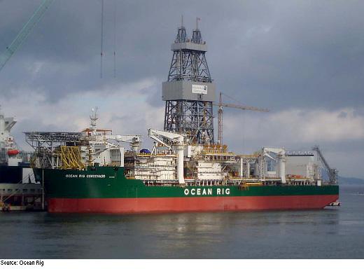 Petróleo Exploração de petróleo Navio-sonda Pré-sal (Foto: Divulgação)