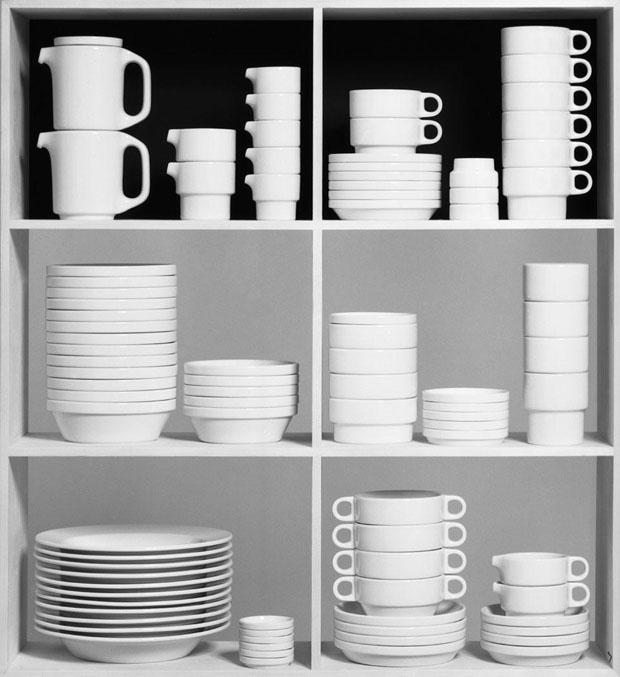 Tableware TC100 para  Thomas Rosenthal. Trabalho de graduação de Hans (Nick) Roericht, 1958–1959 (Ulmer Museum, HfG–Archiv, Ulm) (Foto: divulgação)
