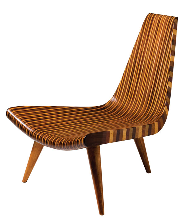 Cadeira de três pés, 1946, Joaquim Tenreiro (Foto: divulgação)