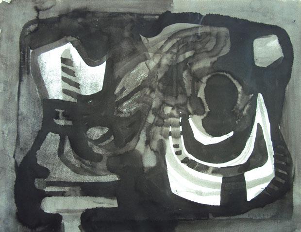 Sem Título, 1973; tinta sobre papel (Foto: divulgação)