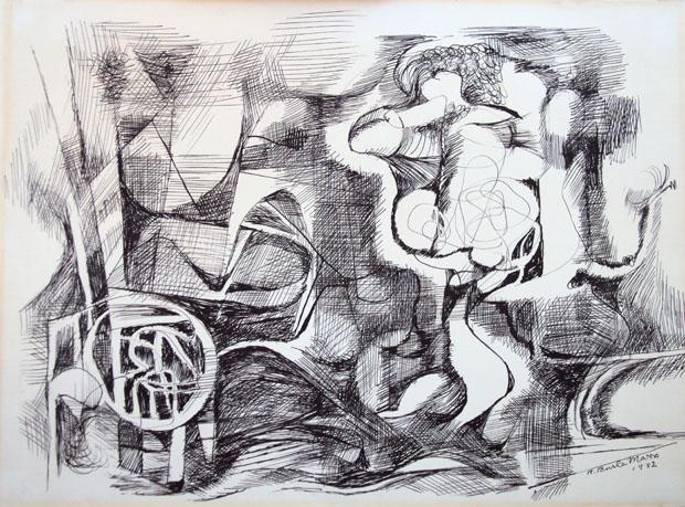 Sem Título, 1982; tinta sobre papel (Foto: divulgação)