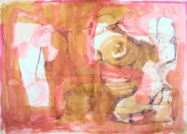 Sem Título, 1973; tinta e aquarela sobre papel (Foto: divulgação)