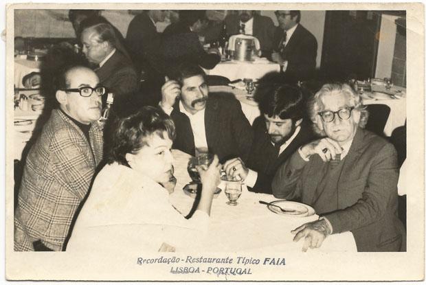 Beatriz Costa, Lagoa Henriques, José Ramoa (colecionador), Carlos Amado, e Roberto Burle Marx