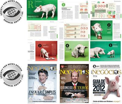 A reportagem de capa de dezembro, medalha de prata do SND, e as edições que valeram o prêmio de excelência (Foto: Reprodução)
