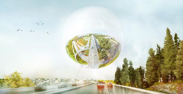 Projeto de futuro parque flutuante em Estocolmo
