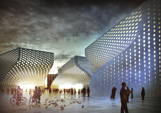 Projeto de futuro centro cultural e mesquita em Tirana, Albânia