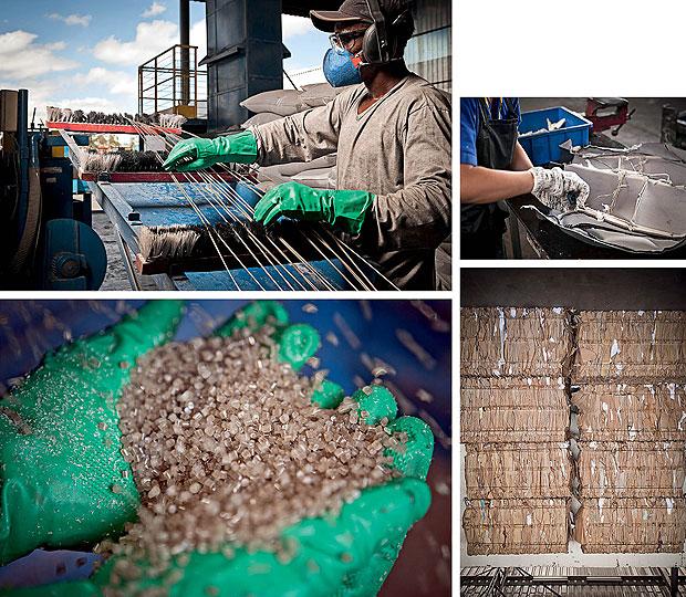 RECICLAGEM A Fiat diz reaproveitar 100% dos resíduos gerados no processo de fabricação. Isso inclui todas as embalagens que vêm dos fornecedores (Foto: Vicente França)