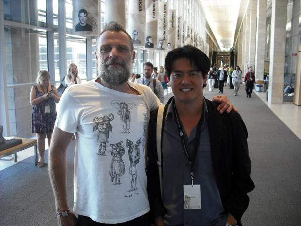 Porky Hefer (esq.) e Tsai, designers sul-africanos (Foto: Artur de Andrade)