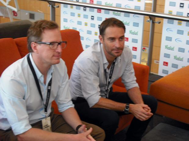 Philippe van der Merwe (esq.) e Greg Gamble, do estúdio de desgin Tonic (Foto: Artur de Andrade)