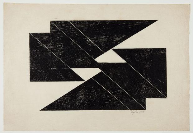 Série Tecelar, 1959, xilografia sobre papel japonês (Foto: Projeto Lygia Pape / MNCARS / PLP - Divulgación)