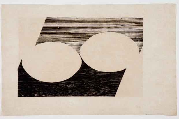 Série Tecelar, 1958, xilografia sobre papel japonês (Foto: Projeto Lygia Pape / MNCARS / PLP - Divulgación)