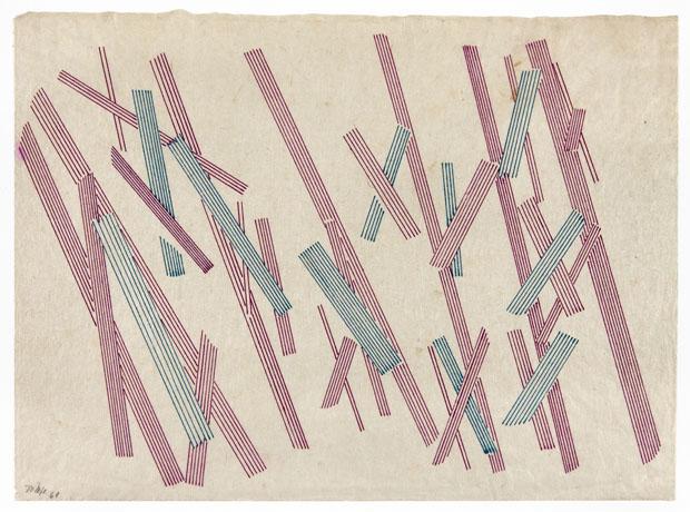 Sem título, 1961, tinta sobre papel (Foto: Projeto Lygia Pape / MNCARS / PLP - Divulgación)