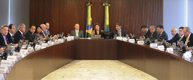 Dilma se reúne com empresários no palácio do planalto (Foto: Wilson Dias/Agência Brasil)