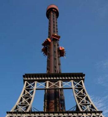 A  atração La Tour Eiffel, do Hopi Hari (Foto: Divulgação)
