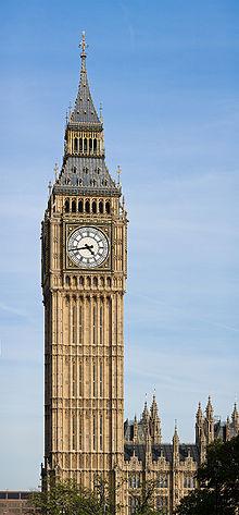 Big Ben, um dos pontos turísticos mais famosos de Londres (Foto: Diliff/Wikimedia Commons)