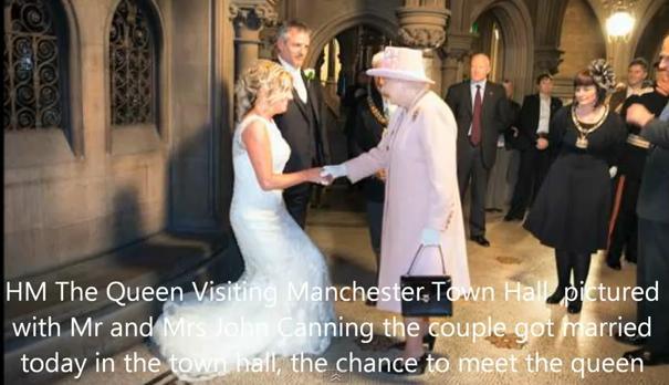 Rainha Elizabeth em casamento civil (Foto: Reprodução/YouTube)