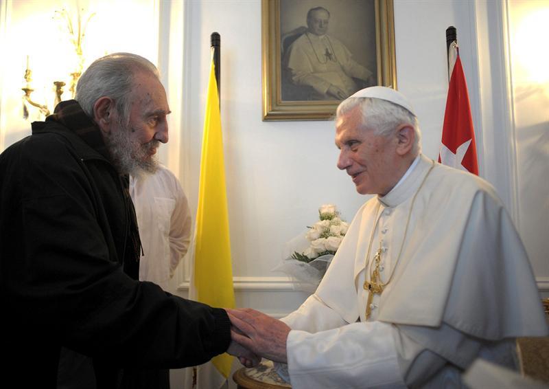 Papa Bento XVI e Fidel Castro (Foto: EFE)