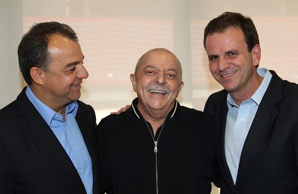Lula recebe a visita de Sergio Cabral e Eduardo Paes (Foto:  Ricardo Stuckert/Instituto Lula)