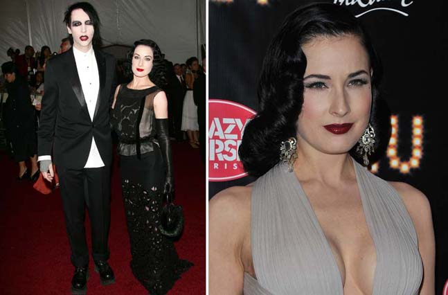 dita von teese and marilyn manson wedding dita von teese