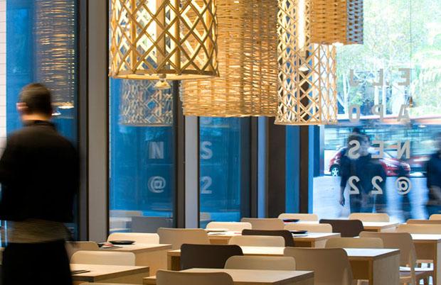 cesto_luminaria_restaurante (Foto: divulgação / Meritxell Arjalaguer)
