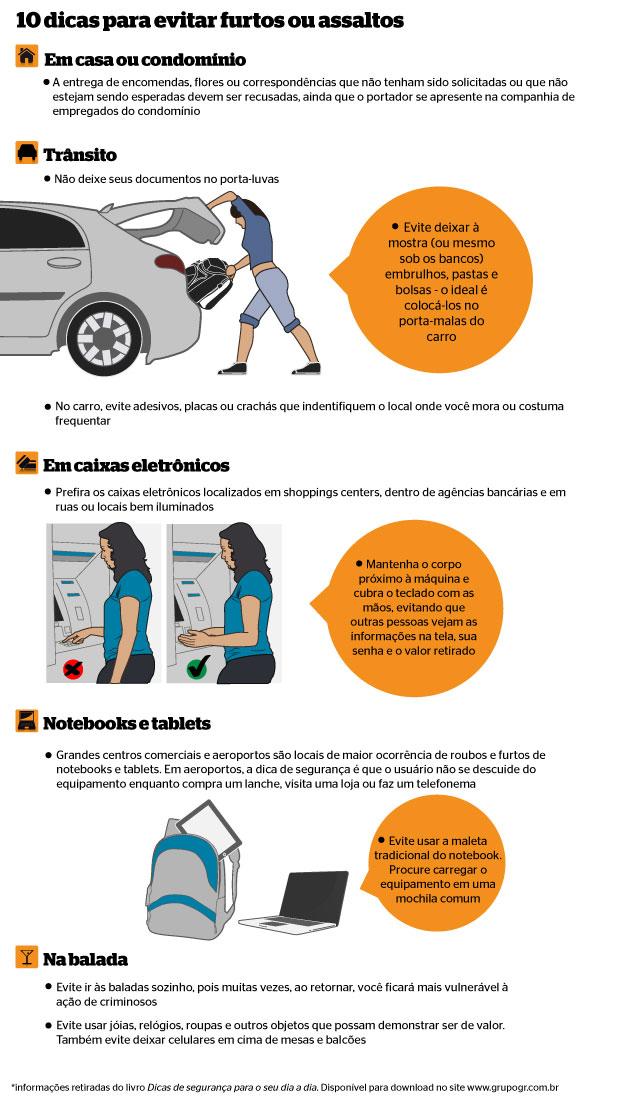 Infográfico sobre dicas de segurança (Foto: Gustavo Campoy/Época)