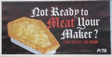 Imagem do Outdoor da campanha do Peta