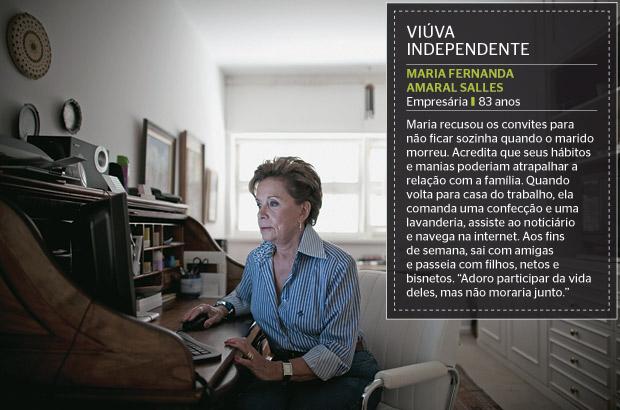 VIÚVA INDEPENDENTE Maria Fernanda Amaral Salles (Foto: Filipe Redondo/ÉPOCA)