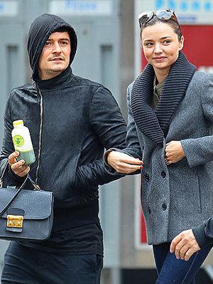 O casal Orlando Bloom e Miranda Kerr também são adeptos da dieta do Suco-Verde (Foto: Brain Pix)