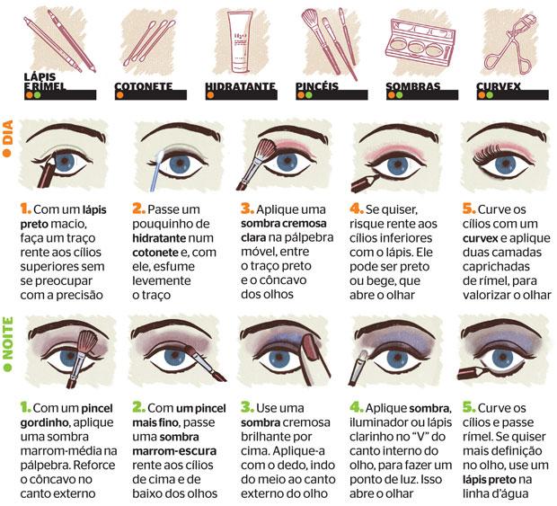 Como maquiar os olhos (Foto: Ilustrações: Nik Neves )