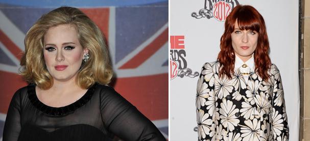 Adele e Florence Welch também figuram na lista dos milionários antes dos 30 (Foto: Getty Images)