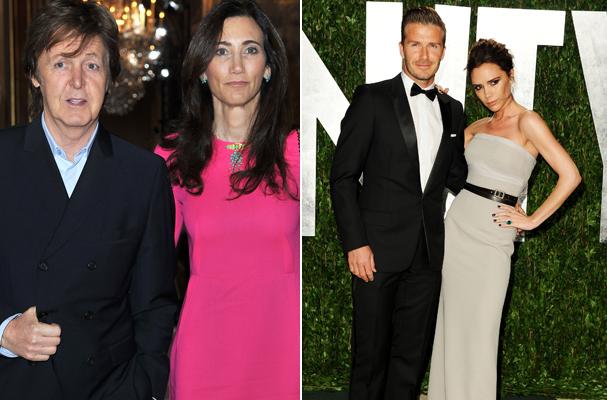 Paul McCartney e a esposa Nancy Shevell constam na lista dos mais ricos da música acompanhados dos Beckham (Foto: Getty Images)