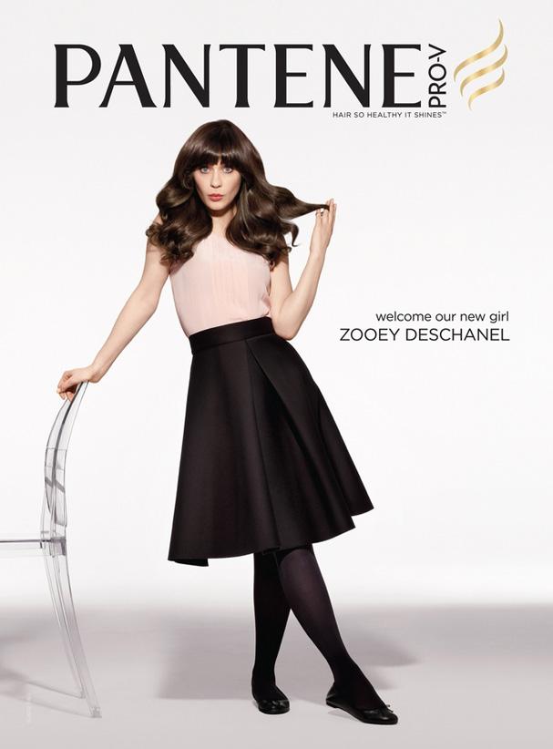 Zooey Deschanel foi a escolha da Pantene para estrelar os anúncios da marca (Foto: Divulgação)