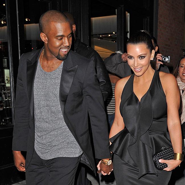 Kim Kardashian e Kanye West (Foto: Splash News)