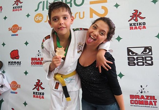 Polliana e Atila, que tinha acabado de conquistar o título na modalidade (Foto: Reprodução/Bloglog)