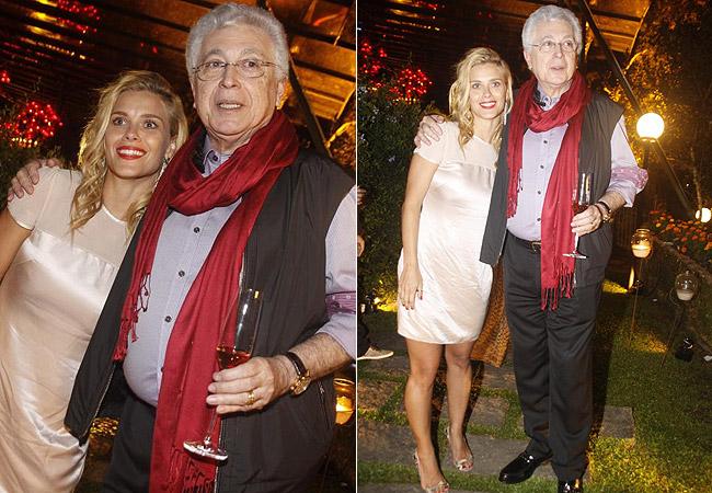 Carolina Dieckmann e Aguinaldo Silva (Foto: AgNews)