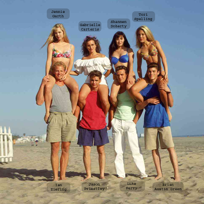 O elenco principal da série de sucesso