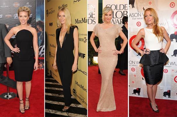 Scarlett, Gwyneth, Heather e Blake: loiras e peladas na internet (Foto: Getty Images)